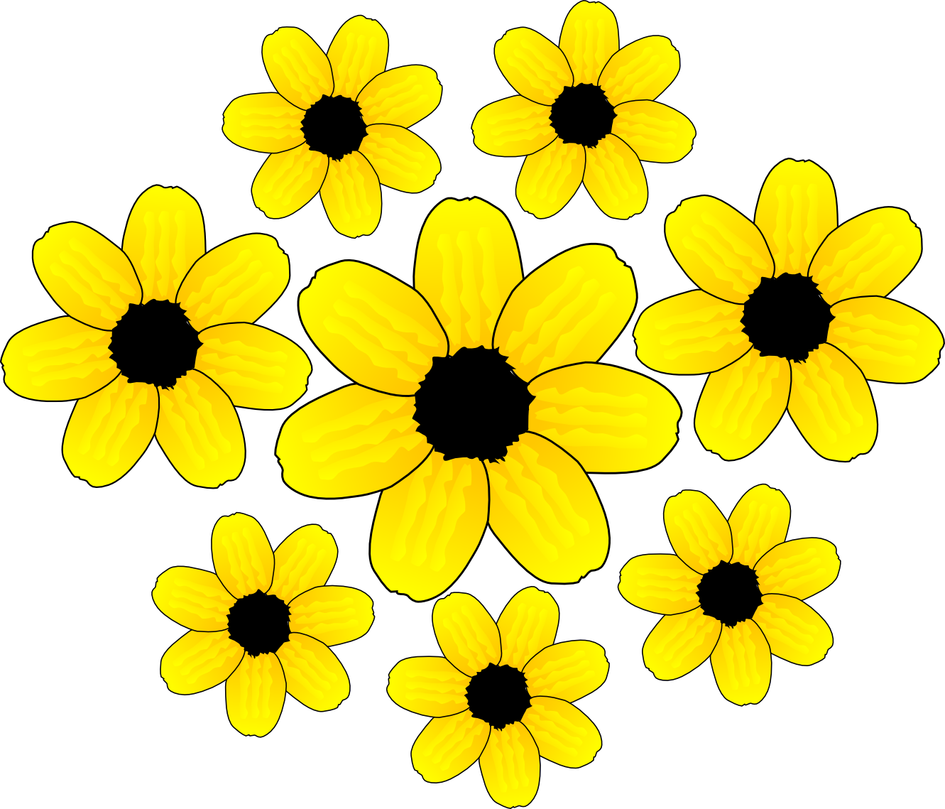 Yellow Flowers Clipart - ClipArt Best