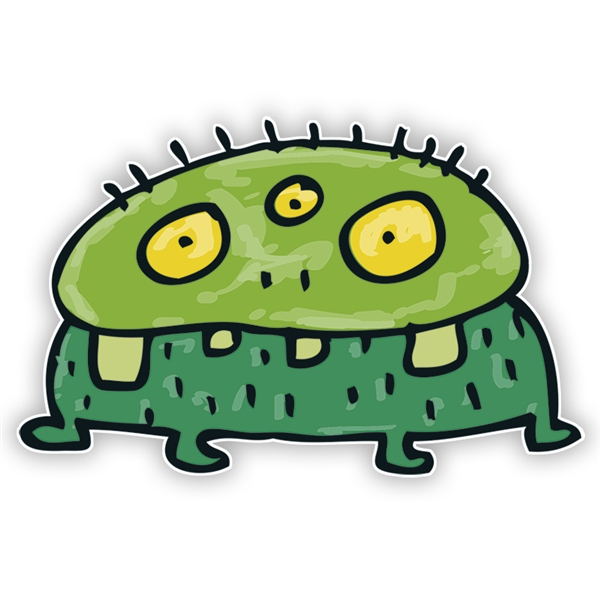 ... Graphics: Green Monster (Three Eyes) - ClipArt Best - ClipArt Best
