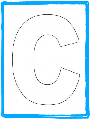 Alphabet Letter C Template and Letter 'C' Song | Kiboomu Kids Songs