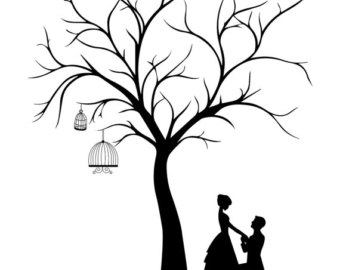 Wedding tree template clipart best for Wedding tree guest book free template