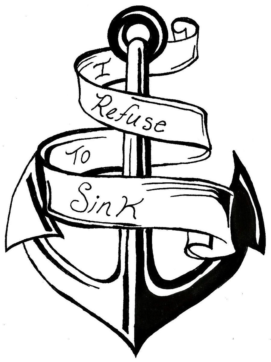 Anchor drawing clipart best for Coloring pages of anchors