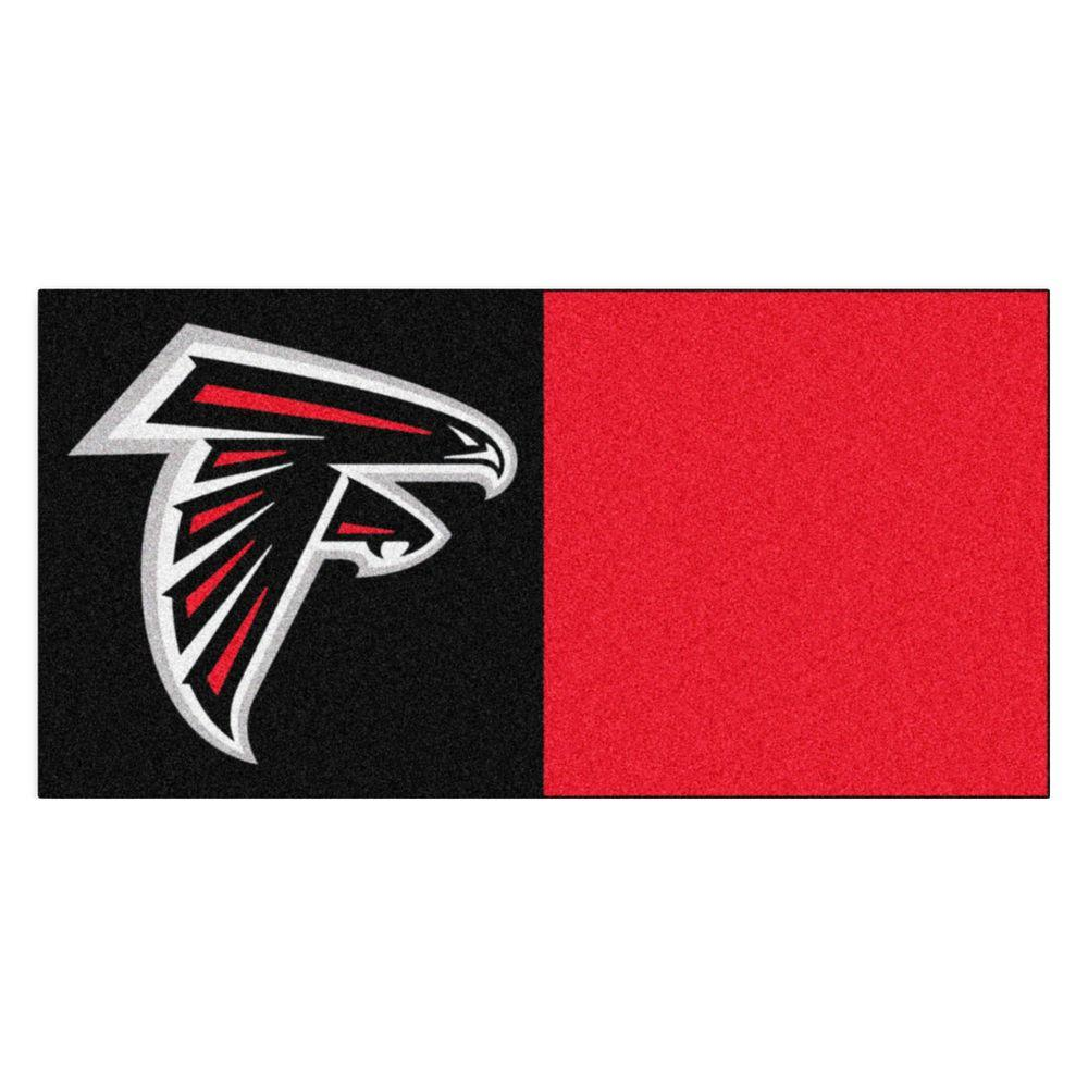 FANMATS NFL - Atlanta Falcons Black and Red Nylon 18 in. x 18 in ...