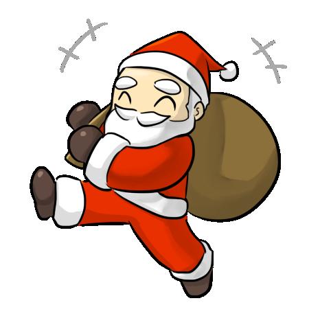 cartoon santa pics clipart best