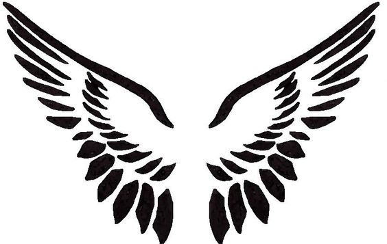 Angel Wing Template Clipart Best