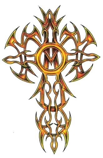 Cross Tattoo Transparent: Cross Tribal Png Image
