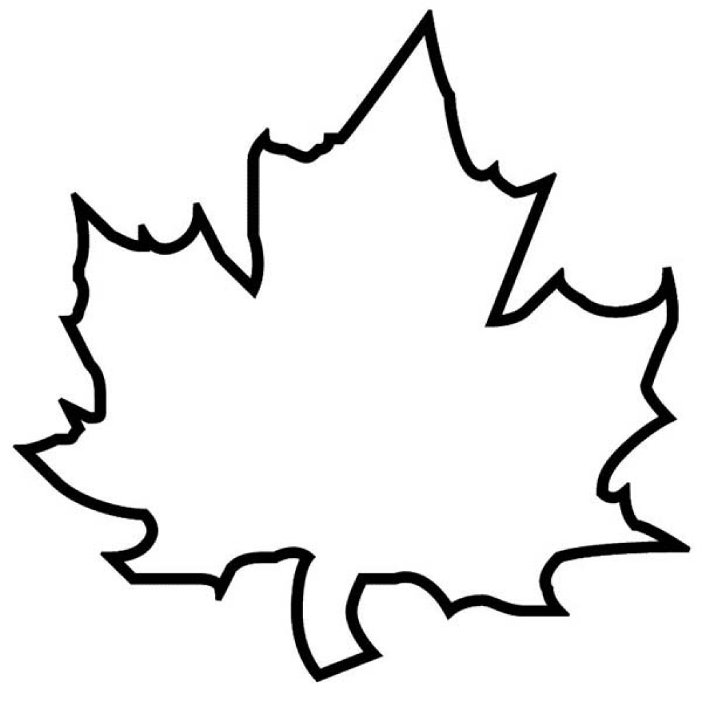 Maple Leaf Coloring Clipart Best