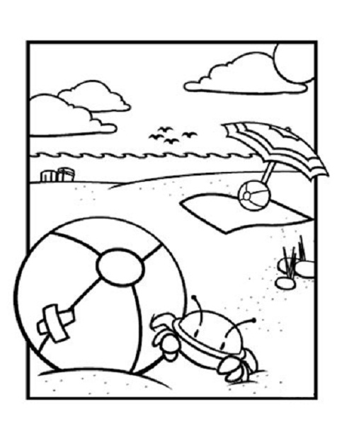 coloring pages beach clipart best
