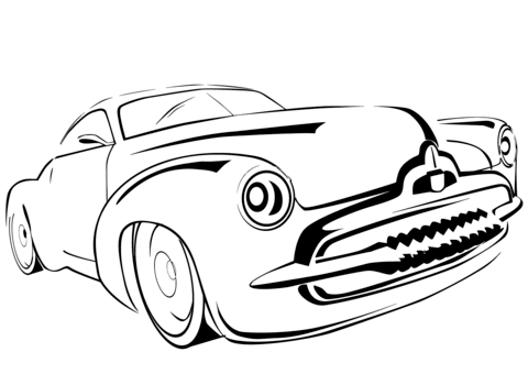 Sonic Race Cars Coloring Pages