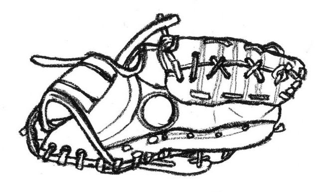 baseball glove drawing clipart best softball clipart free images softball clipart black and white