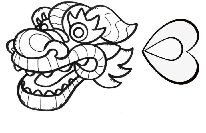 chinese dragon face coloring sheet coloring pages chinese dragon head - Chinese Dragon Head Coloring Pages