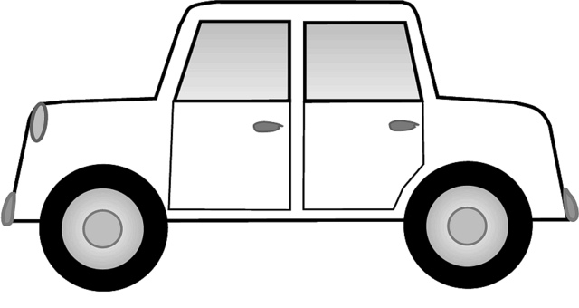 Image of 39 Car Clipart Black and White Images #9257, Car Clip Art ...