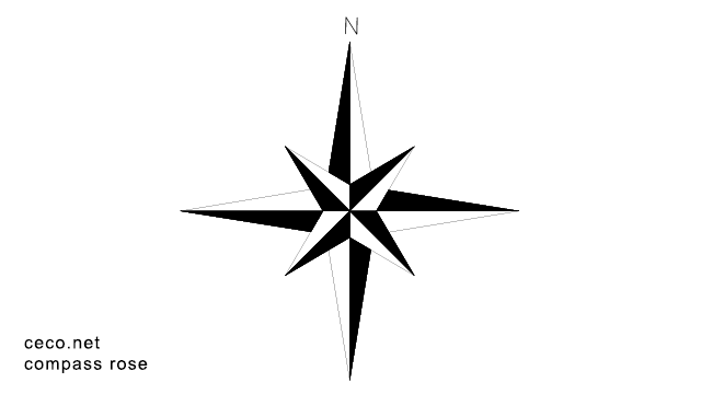 Compass Rose north arrow block in symbols north arrows Autocad ...