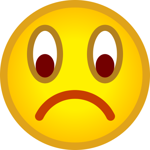 Unhappy face clipart