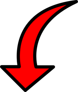 Red arrow clipart png