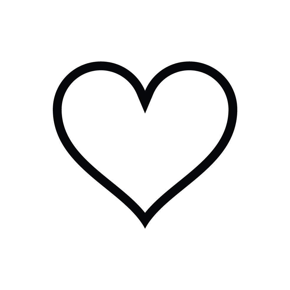 love heart symbol black and white clipart best