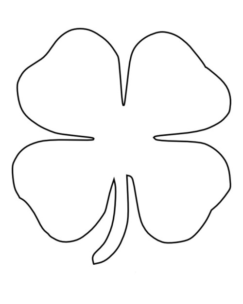 Gutsy image with regard to printable four leaf clovers