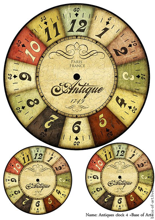 Striking image intended for printable clock faces for crafts