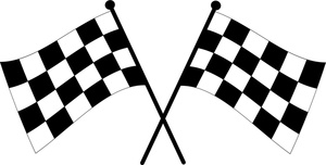 Checkered flags crossed cross clipart - ClipartFox