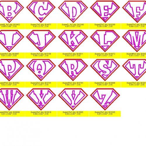 Superman Alphabet Letters Font