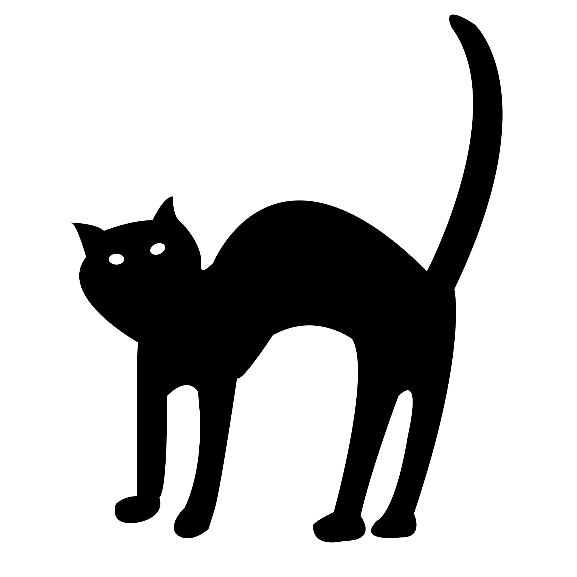 scary cat clipart free - photo #14
