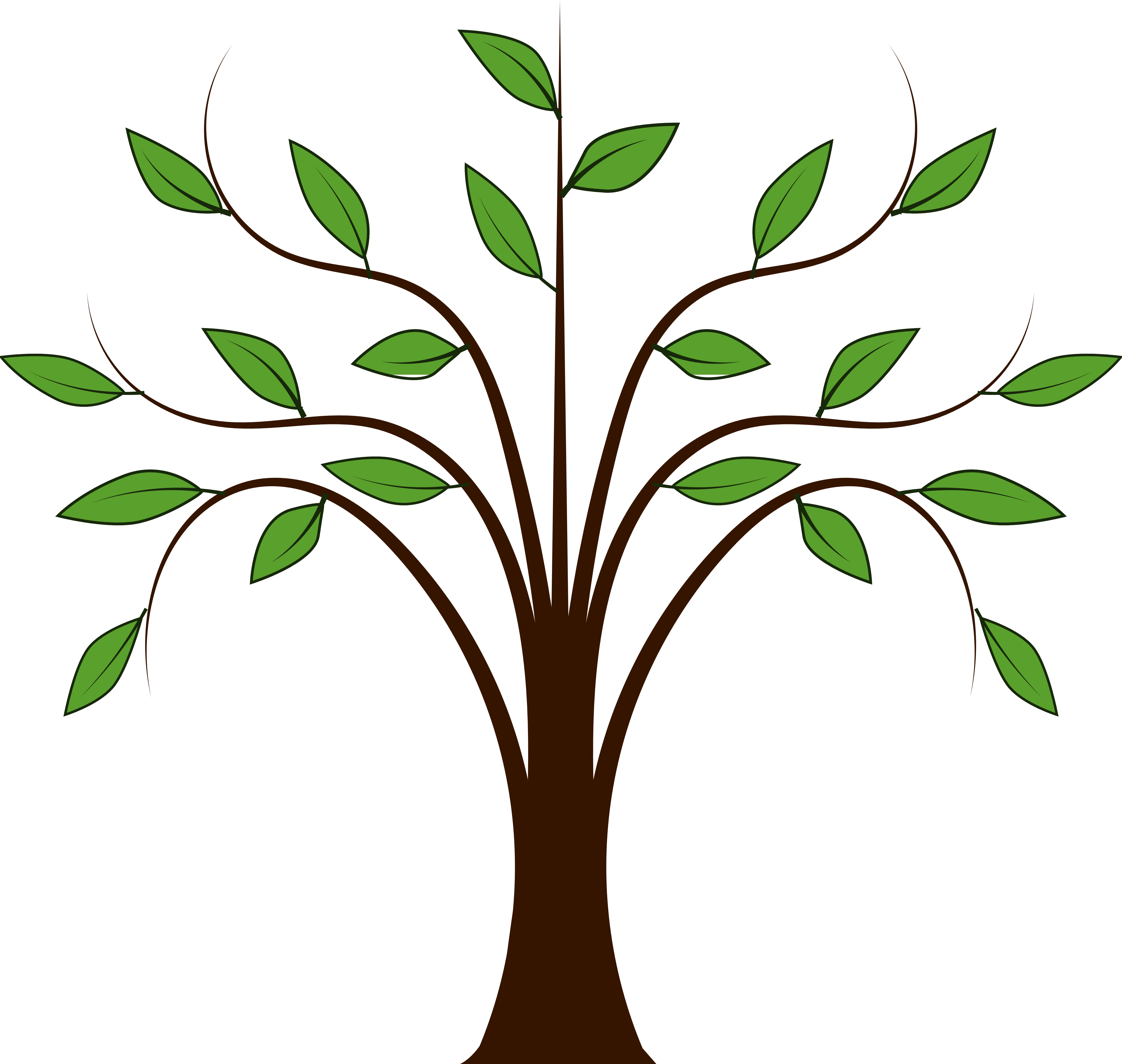 clipart tree with branches - photo #6