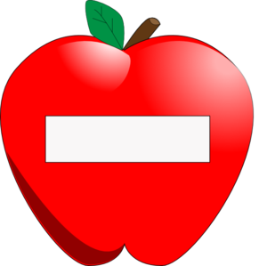 Apple Name Tag clip art - vector clip art online, royalty free ...
