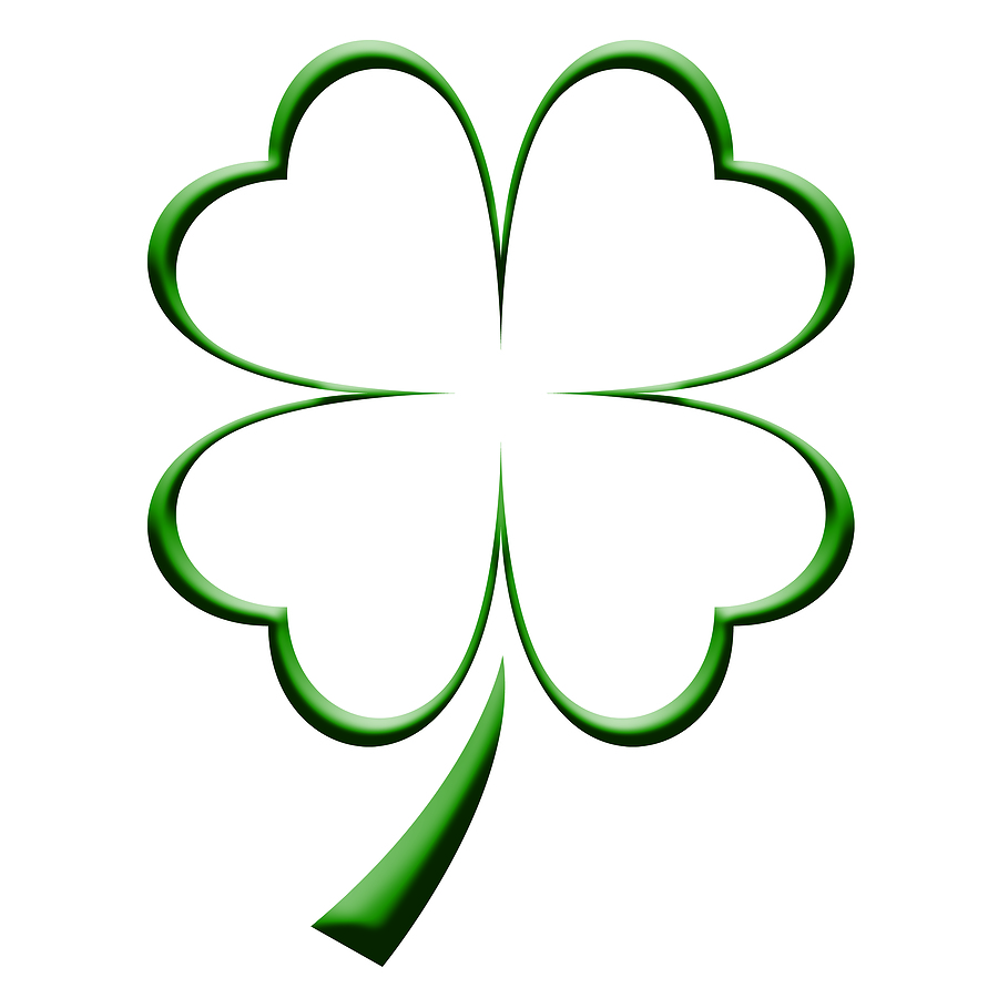 Four Leaf Clover Colouring Pages