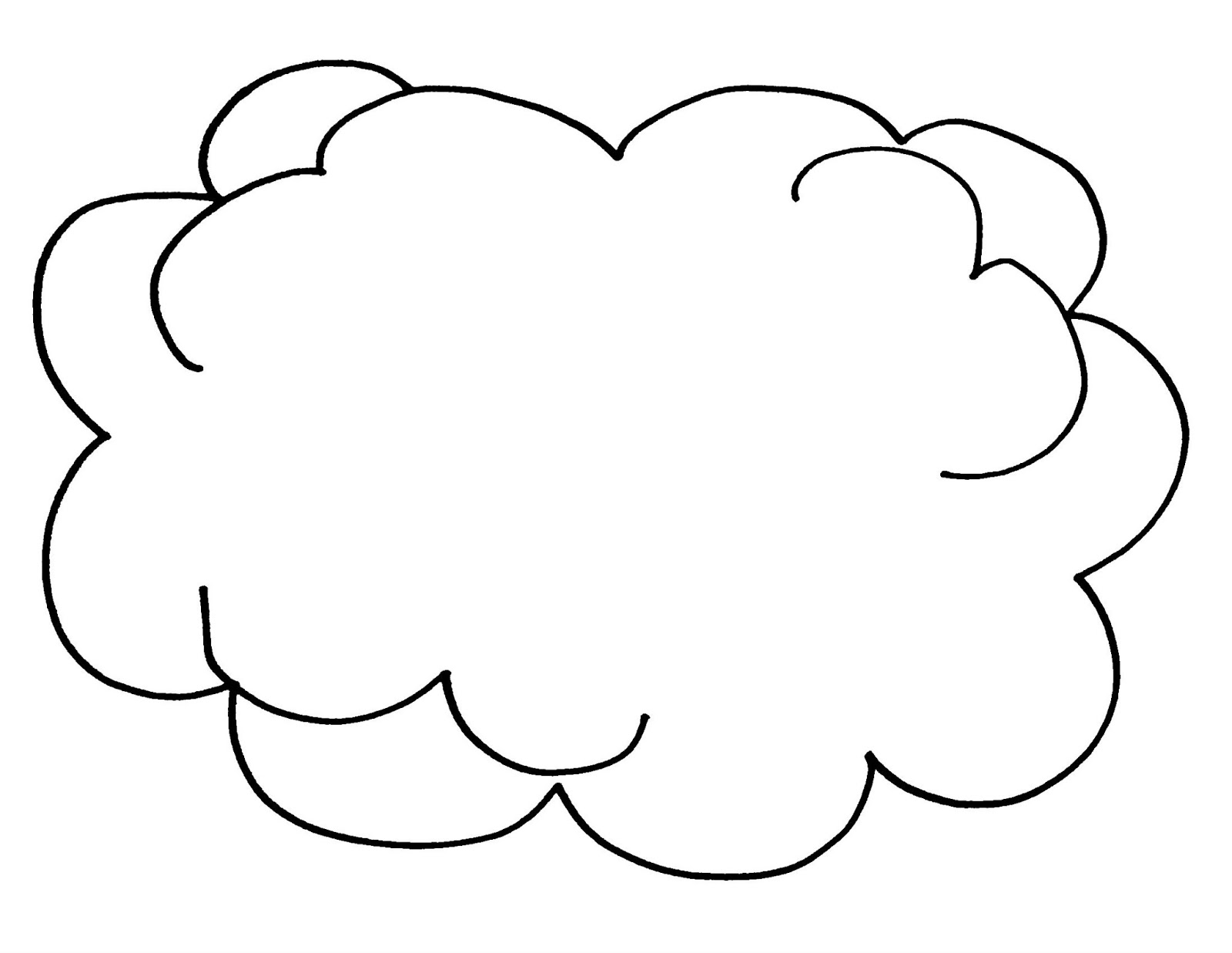 types of clouds coloring pages - photo#4