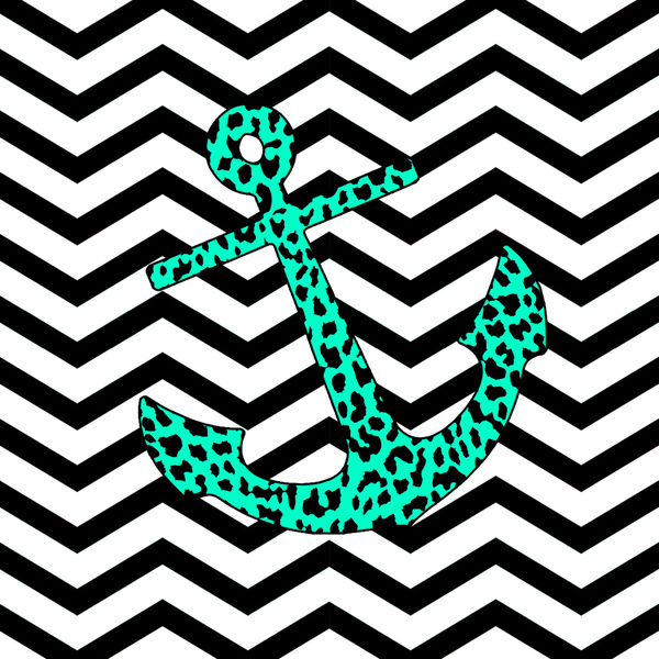 Anchor Chevron Wallpaper Leopard chevron anchor art