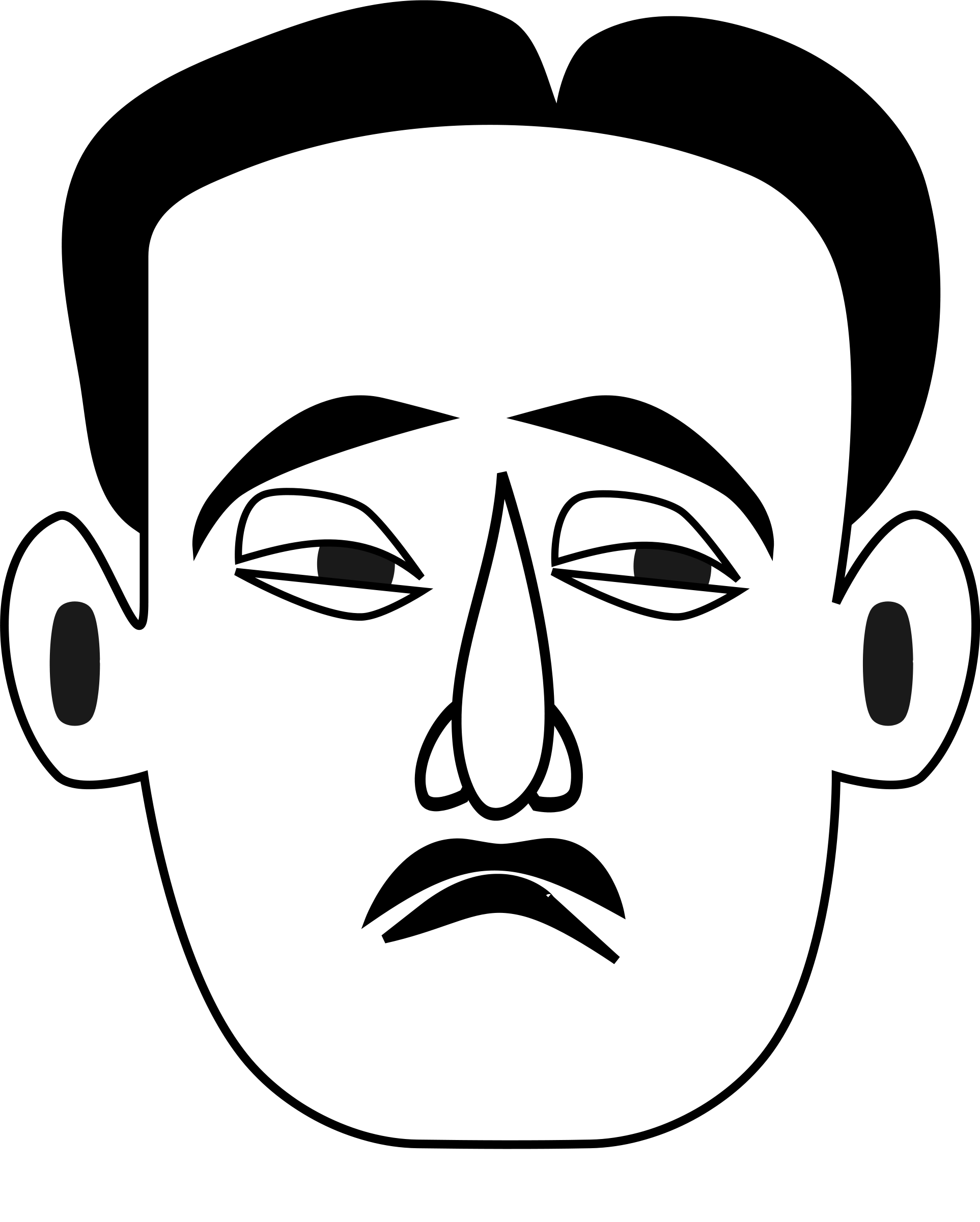 Line Drawing Sad Face : Sad face line drawing clipart best