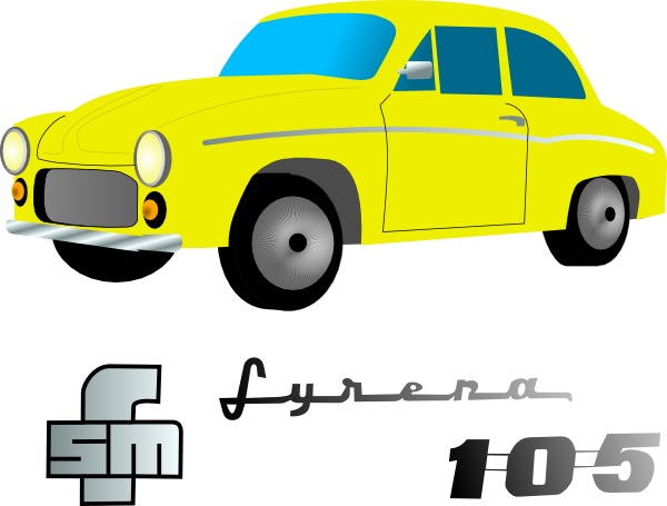 Yellow Car Vehicle clip art Free Vector