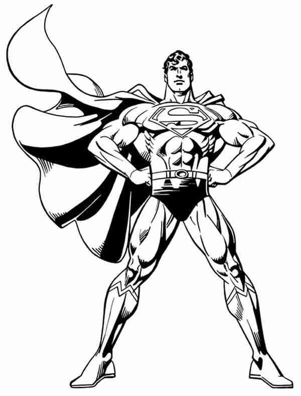 Black and white clip art of superman clipart best for Man of steel coloring pages