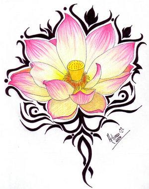 Lotus Tattoo Tribal - ClipArt Best