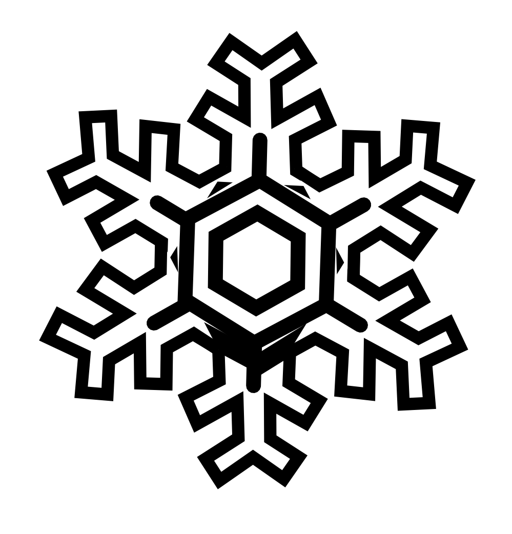 34 snowflake line drawing . Free cliparts that you can download to you ...