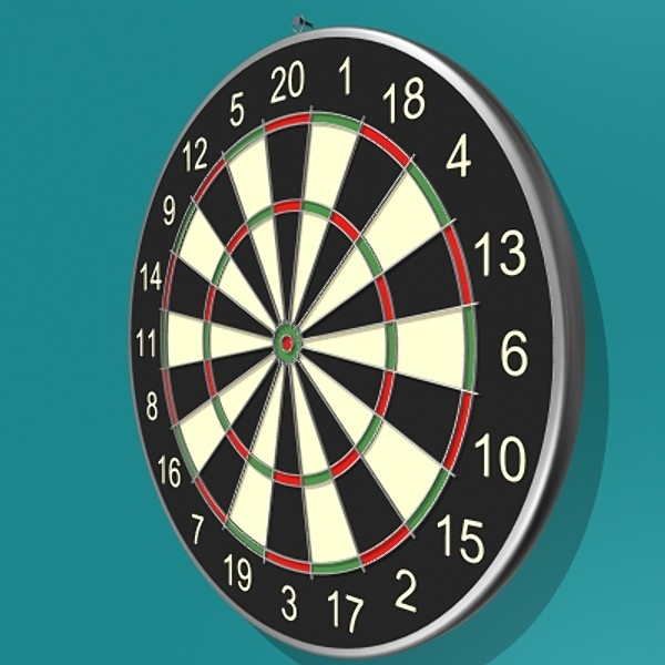 dartboard darts board 3d model - ClipArt Best - ClipArt Best