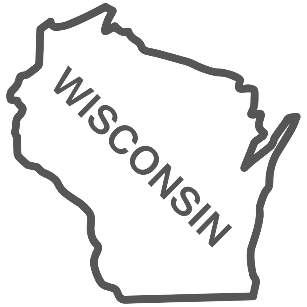 Wisconsin State Outline Decal Sticker 2095 Decals for Car Window ...