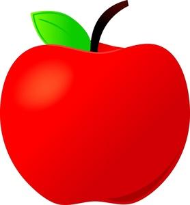 A Cartoon Apple on Math Clip Art Free Teachers