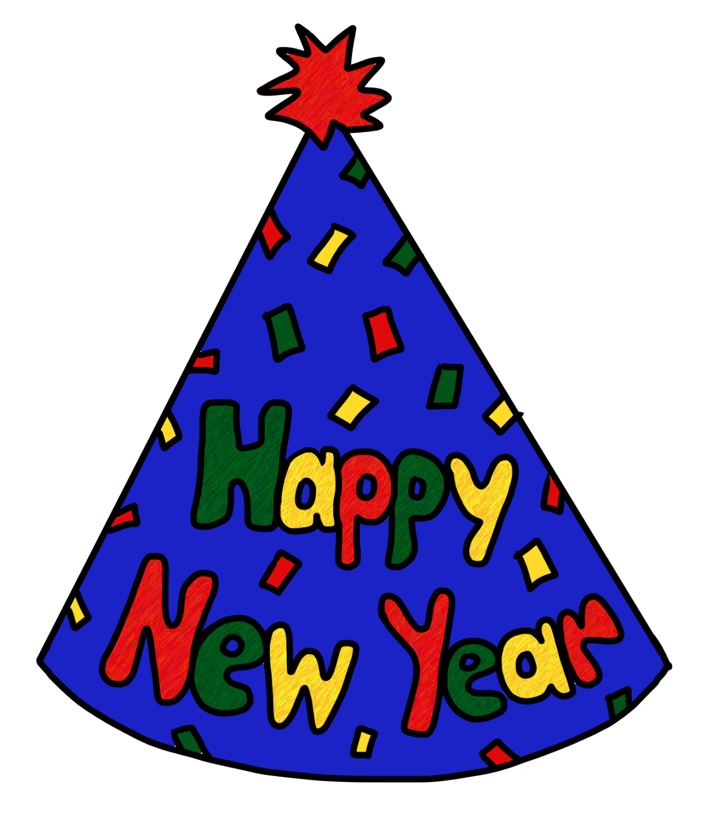 Clip Art by Carrie Teaching First: Happy New Year Party Hat FREEBIE ...