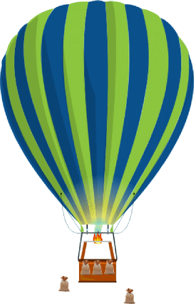 Green And Blue Hot Air Balloon clip art - vector clip art online ...