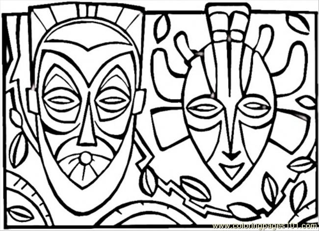 African Masks Drawings African Mask Countries