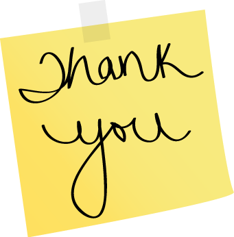 Thank you and Merci! sticky-note-thank-you MAZON Canada