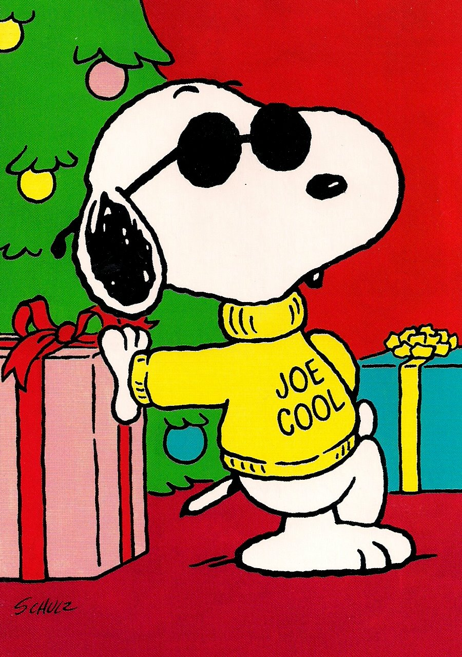 Snoopy joe cool clipart best for Cool christmas art