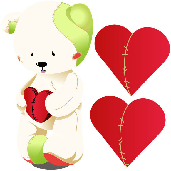 Cute Teddy Bears With Hearts - ClipArt Best
