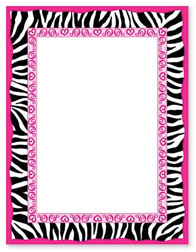 leopard print invitations templates - animal print border clip art clipart best