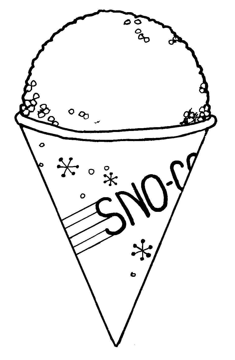 free snow cone coloring pages - photo#3