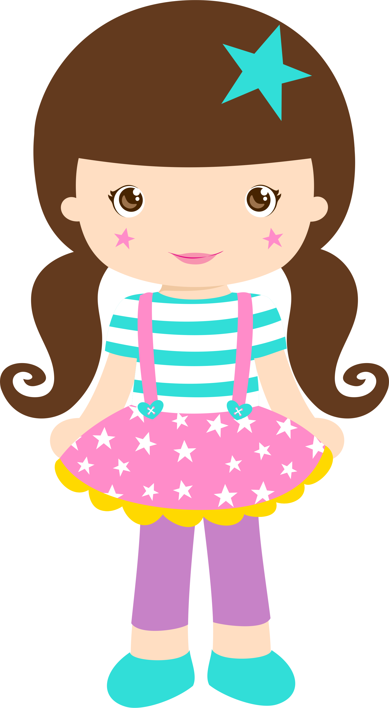 Foto desenho animado menina morena 9
