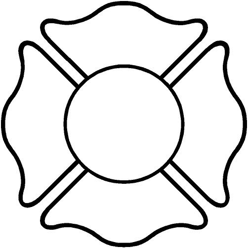 Firefighter Cross Clipart