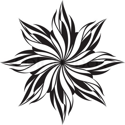 Flower design pattern black and white clipart best for Cool designs in black and white