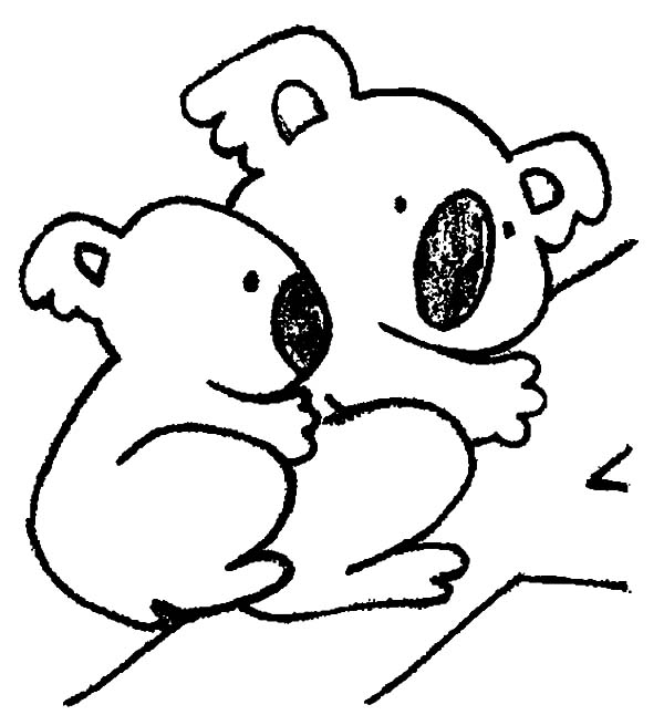 k is for koala bear coloring pages - photo #44