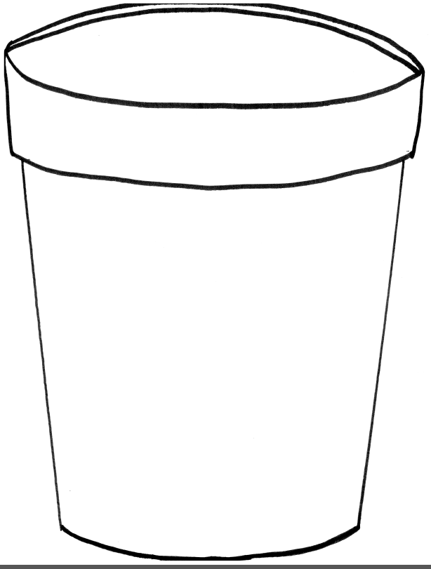 Black and white template of a childs bucket clipart best for Sand bucket template